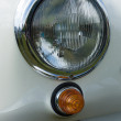 Stock Photo: Headlamp two-door roadster Mercedes-Benz 190SL