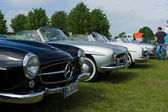 Several two-door roadster Mercedes-Benz 190SL — Stock Photo