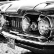 Stock Photo: Full-size automobile Oldsmobile 98 (Ninety-Eight), black and white
