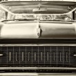 Stock Photo: Full-size automobile Oldsmobile 98 (Ninety-Eight), sepia