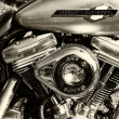 Stock Photo: Detail of motorcycle Harley-Davidson