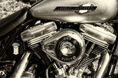 Detail of the motorcycle Harley-Davidson — Stock Photo