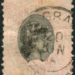 Postage stamp printed in Brazil, shows a Liberty Head — Stock Photo #39433407