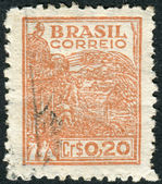 Postage stamp printed in Brazil, dedicated to agriculture — Stock Photo