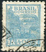 Postage stamp printed in Brazil, dedicated to agriculture — Foto de Stock