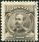 Postage stamp printed in Brazil, shows a soldier and politician, the second president of Brazil, Floriano Peixoto — Stock Photo