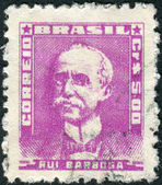 Postage stamp printed in Brazil, shows a writer, politician, diplomat and jurist, Rui Barbosa de Oliveira — Stock Photo