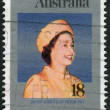 AUSTRALIA - CIRCA 1977: Postage stamp printed in Australia, dedicated to the 25th anniversary of the Reign of Queen Elizabeth II, circa 1977 — Stock Photo #40361841
