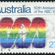 Stock Photo: AUSTRALI- CIRC1982: Postage stamp printed in Australia, dedicated to 50th anniversary of AustraliBroadcasting Commission, shows Emblem, circ1982