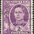 AUSTRALIA - CIRCA 1944: Postage stamp printed in Australia shows King of the United Kingdom and the British Dominions, and Emperor of India, George VI, circa 1944 — Stock Photo