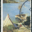 "Foto Stock: AUSTRALI- CIRC1979: Postage stamp printed in Australia, shows picture of ""McMahon's Point"" by Sir Arthur Streeton, circ1979"