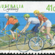 AUSTRALIA - CIRCA 1989: Postage stamp printed in Australia shows Cycling, circa 1989 — Stock Photo #40365243