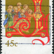 Stock Photo: AUSTRALI- CIRC1993: Postage stamp printed in Australia, Christmas Issue, shows angels with trumpets, circ1993