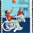 AUSTRALIA - CIRCA 1981: Postage stamp printed in Australia, dedicated to the International Year of Disabled, shows disabled athlete, circa 1981 — Stock Photo