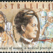 AUSTRALIA - CIRCA 1990: Postage stamp printed in Australia, dedicated to the 100th anniversary of Women Practicing Medicine in Australia shows Dr. Constance Stone, Australia's first woman doctor, circ — Stock Photo #40368343