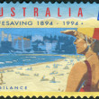 Stock Photo: AUSTRALI- CIRC1994: Postage stamp printed in Australia, dedicated to 100th anniversary of Royal Life Saving Society, shows Vigilance, circ1994
