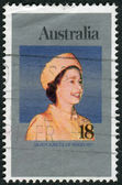 AUSTRALIA - CIRCA 1977: Postage stamp printed in Australia, dedicated to the 25th anniversary of the Reign of Queen Elizabeth II, circa 1977 — Stock Photo