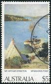 "AUSTRALIA - CIRCA 1979: Postage stamp printed in Australia, shows a picture of ""McMahon's Point"" by Sir Arthur Streeton, circa 1979 — Stock Photo"