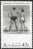 AUSTRALIA - CIRCA 1991: Postage stamp printed in Australia, dedicated to the 150th anniversary of photography, shows Bondi by Max Dupain, circa 1991 — Stock Photo