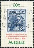 AUSTRALIA - CIRCA 1978: Postage stamp printed in Australia, is dedicated to National Stamp Week, shows Australia No. 95 on Album Page, circa 1978 — Stock Photo