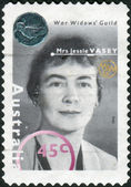 AUSTRALIA - CIRCA 1995: Postage stamp printed in Australia, shows the founder and President of the War Widows' Guild of Australia, Jessie Mary Vasey, circa 1995 — Stock Photo