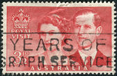 AUSTRALIA - CIRCA 1954: Postage stamp printed in Australia, dedicated Visit of Queen Elizabeth II and the Duke of Edinburgh, circa 1954 — Stock Photo