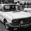 PAAREN IM GLIEN, GERMANY - MAY 19: Compact executive car Audi F103 (Audi 60), black and white, The oldtimer show in MAFZ, May 19, 2013 in Paaren im Glien, Germany — Stock Photo