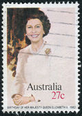 AUSTRALIA - CIRCA 1982: Postage stamp printed in Australia, dedicated to 56th anniversary of the birth Queen Elizabeth II, circa 1982 — Stock Photo