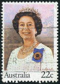 AUSTRALIA - CIRCA 1980: Postage stamp printed in Australia, dedicated to 54th anniversary of the birth Queen Elizabeth II, circa 1980 — Stock Photo