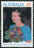 AUSTRALIA - CIRCA 1990: Postage stamp printed in Australia, dedicated to 64-th anniversary of the birth Queen Elizabeth II, circa 1990 — Stock Photo