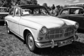PAAREN IM GLIEN, GERMANY - MAY 19: Large family car, 4-door sedan, Volvo Amazon, (black and white), The oldtimer show in MAFZ, May 19, 2013 in Paaren im Glien, Germany — Stock Photo