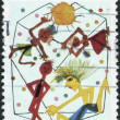 """AUSTRALIA - CIRCA 1985: Postage stamp printed in Australia, dedicated to International Youth Year, shows picture """"Youth"""" by Derryn Vogelnest, circa 1985 — Stock Photo"""