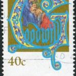 AUSTRALIA - CIRCA 1993: Postage stamp printed in Australia, Christmas Issue, shows Adoration of the Magi, circa 1993 — Stock Photo #40704517