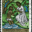 AUSTRALIA - CIRCA 1973: Postage stamp printed in Australia, Christmas Issue, shows the Baptism of Christ, circa 1973 — Stock Photo #40706299