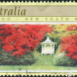 AUSTRALIA - CIRCA 1989: Postage stamp printed in Australia shows a garden landscape Nooroo, New South Wales, circa 1989 — Stock Photo #40706911