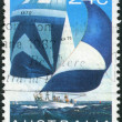 AUSTRALIA - CIRCA 1981: Postage stamp printed in Australia shows Ocean racer, circa 1981 — Stock Photo #40707549