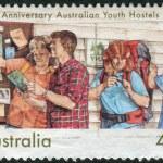 AUSTRALIA - CIRCA 1989: Postage stamp printed in Australia, dedicated to the 50th anniversary of Australian Youth Hostels, circa 1989 — Stock Photo