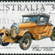Stock Photo: AUSTRALI- CIRC1984: Postage stamp printed in Australia, shows Australian-made vintage cars: Chic, 1924, circ1984