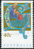 AUSTRALIA - CIRCA 1993: Postage stamp printed in Australia, Christmas Issue, shows Adoration of the Magi, circa 1993 — Stock Photo