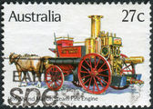 AUSTRALIA - CIRCA 1983: Postage stamp printed in Australia, shows Historic Fire Engines: Shand Mason Steam, 1891, circa 1983 — Stock Photo