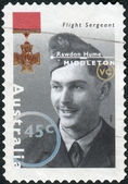 AUSTRALIA - CIRCA 1995: Postage stamp printed in Australia shows Famous Australians from World War II, Flight Sergeant Rawdon Hume Middleton, circa 1995 — Stock Photo