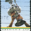 AUSTRALIA - CIRCA 1986: Postage stamp printed in Australia, is dedicated to America's Cup Triumph '83, shows Trophy, circa 1986 — Stock Photo #40710291