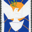 AUSTRALIA - CIRCA 1986: Postage stamp printed in Australia, dedicated to International Peace Year, shows a dove of peace with a laurel branch, circa 1986 — Stock Photo