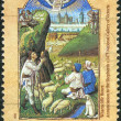 AUSTRALIA - CIRCA 1989: Postage stamp printed in Australia, Christmas Issue, shows Illuminations: Annunciation to the Shepherds from the Wharncliffe Hours, c. 1475, circa 1989 — Stock Photo #40710569