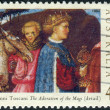 AUSTRALIA - CIRCA 1994: Postage stamp printed in Australia, Christmas Issue, shows Details from Adoration of the Magi by Giovanni Toscani, circa 1994 — Stock Photo #40711061