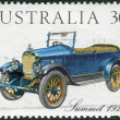 Stock Photo: AUSTRALI- CIRC1984: Postage stamp printed in Australia, shows Australian-made vintage cars: Summit, 1923, circ1984