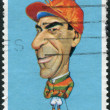 Foto de Stock  : AUSTRALI- CIRC1981: Postage stamp printed in Australia, shows Australisportsmen (Caricatures by Tony Rafty): Jockey Darby Munro, circ1981