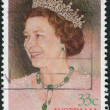 AUSTRALI- CIRC1986: Postage stamp printed in Australia, dedicated to 60th Birthday Queen Elizabeth II, shows portrait, circ1986 — Stock Photo #40712031