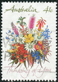"AUSTRALIA - CIRCA 1990: Postage stamp printed in Australia shows Special Occasions and the inscription ""Thinking of You"", circa 1990 — Stock Photo"