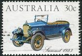 AUSTRALIA - CIRCA 1984: Postage stamp printed in Australia, shows Australian-made vintage cars: Summit, 1923, circa 1984 — Stock Photo